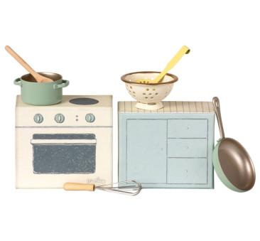 Zestaw Kuchenny - Cooking set - Akcesoria dla Lalek- Maileg
