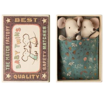 Myszki Bliźnięta w Pudełku - Baby Mice - Twins in Box - Maileg
