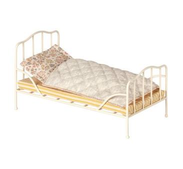 Łóżko Vintage Mini - Białe - Vintage Bed Mini White - Akcesoria dla Lalek - Maileg