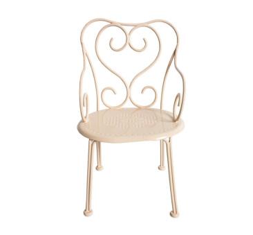 Metalowe Romantyczne Krzesło - Pudrowe - Romantic Chair Powder - Akcesoria dla Lalek - Maileg