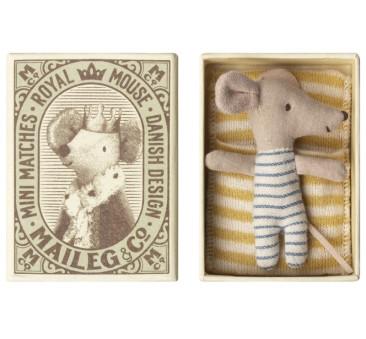 Myszka W Pudełeczku - Baby Mouse Sleepy Wakey In Box - Boy - Maileg