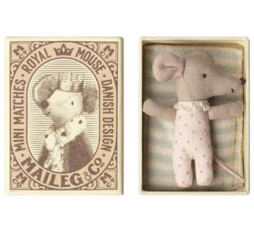 Myszka W Pudełeczku Dziewczynka - Baby Mouse Sleepy Wakey In Box - Girl - Maileg