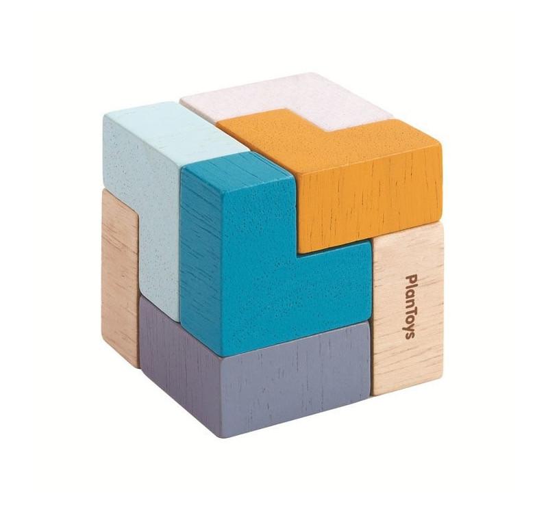 Puzzle Sześcienne - Mini Sześcian - zabawka zręcznościowa - Plan Toys