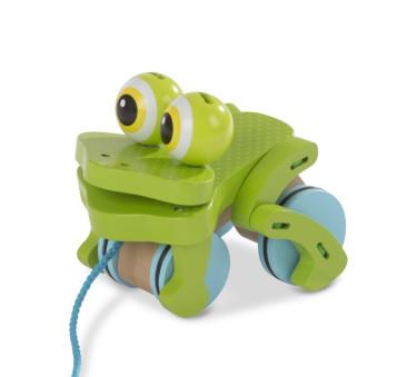 Skacząca Drewniana Żaba - zabawka do ciągnięcia - Melissa & Doug
