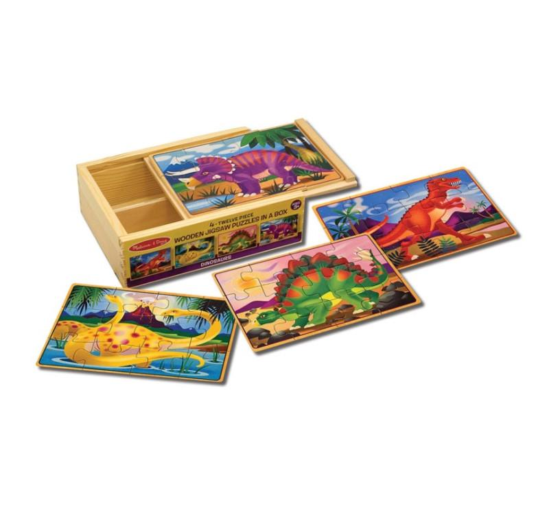Drewniane Puzzle Dinozaury w Pudełku - Melissa & Doug