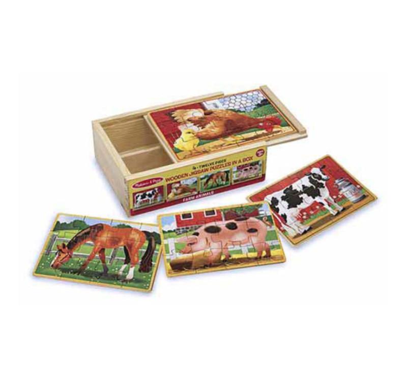 Drewniane Puzzle Zwierzęta na Farmie - Melissa & Doug