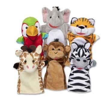 Pacynki na rękę zwierzątka safari - Melissa & Doug