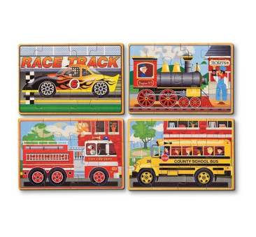 Układanka Pojazdy - drewniane puzzle - Melissa & Doug