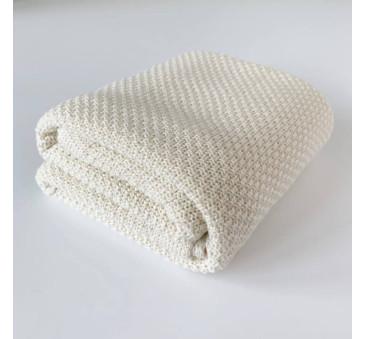 Koc Śmietankowy - Bambusowy - 75 x 95 - Makaszka