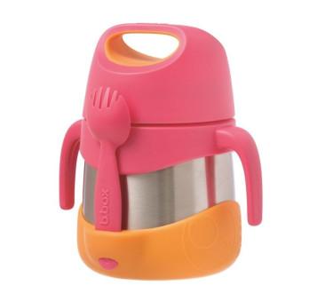 Strwaberry Shake - Termos na jedzenie - B.BOX - Pomarańczowo/ Różowy