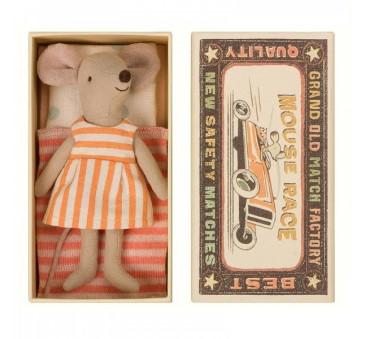 Myszka w Pomarańczowej Sukience - Big sister Mouse in the box - Maileg