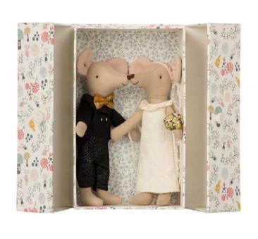 Myszki Nowożeńcy - Wedding Mice couple in box - Maileg