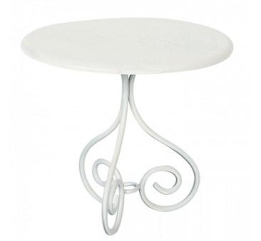 Stolik Kawowy - Biały - Coffe Table Offwhite - Akcesoria dla Lalek - Maileg