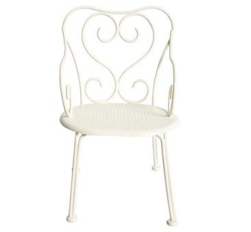 Metalowe Romantyczne Krzesło - Białe - Romantic Chair Offwhite - Akcesoria dla Lalek - Maileg