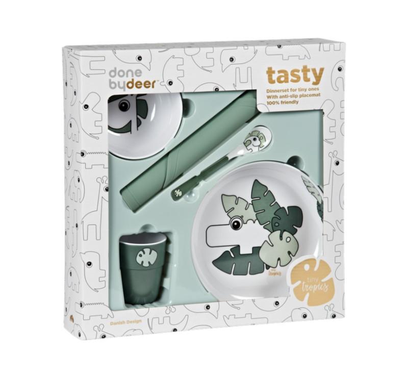 Zestaw Obiadowy z Matą - Tiny Tropics - Done By Deer