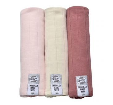 Pieluszki 3-pack XL - Swaddler - Soft Skin/ Ivory/Plush 120x120 cm - Lodger