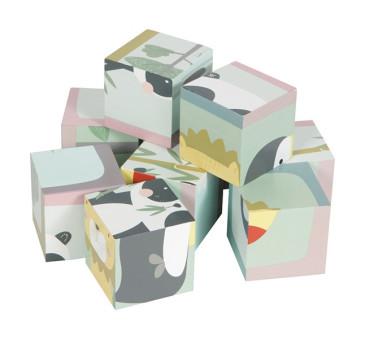 Zwierzątka - Puzzle Kostki - 6 elementów- Little Dutch