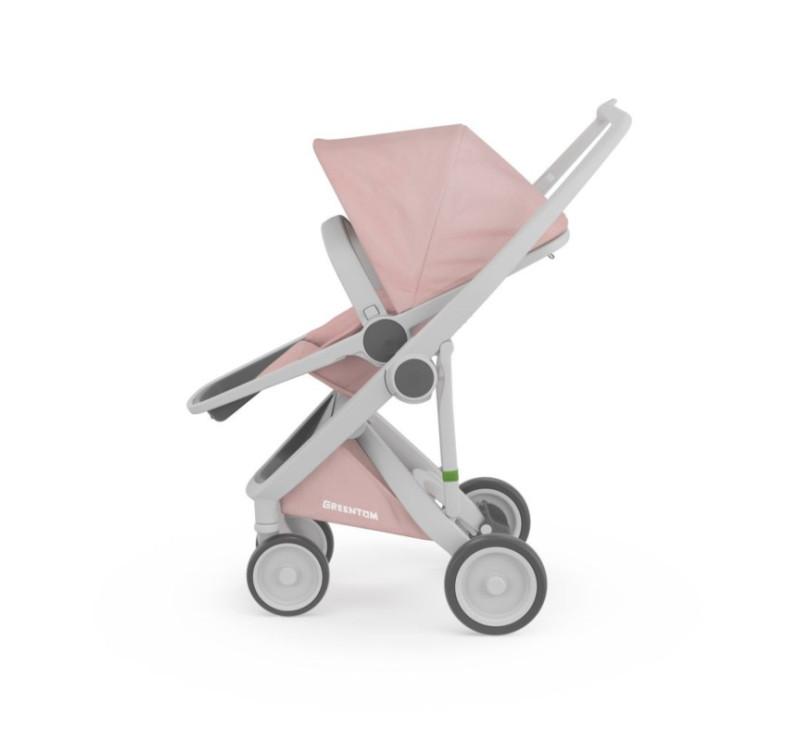 Wózek Greentom Upp Reversible - grey - blossom / szaro - różowy