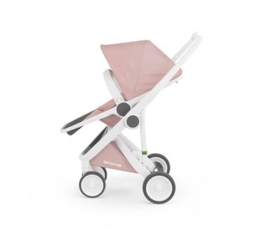 Wózek Greentom Upp Reversible - white - blossom / biało - różowy