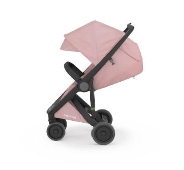 Wózek Greentom Upp Classic - black - blossom czarno- różowy