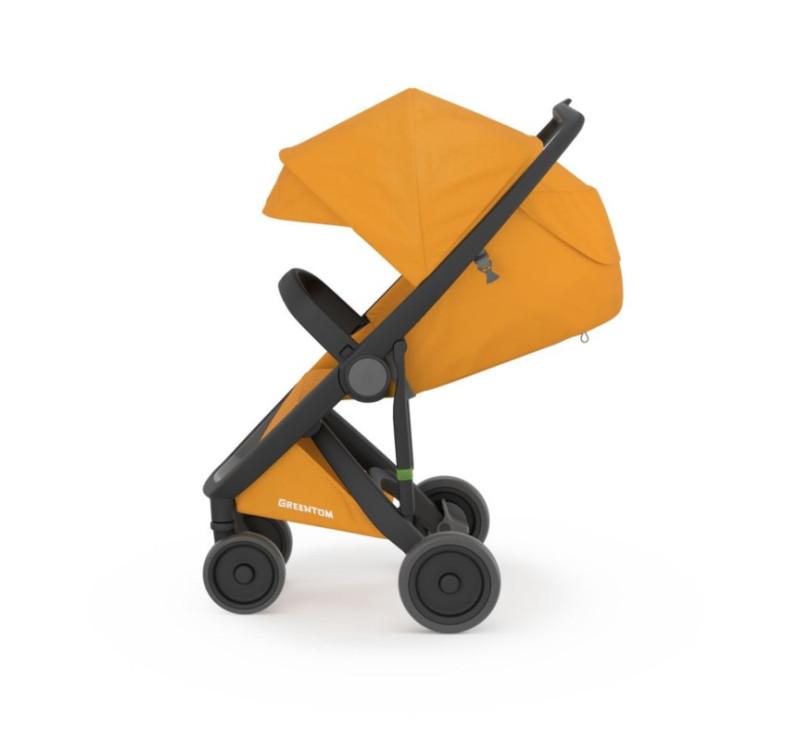 Wózek Greentom Upp Classic - black - sunflower / czarno - żółty