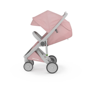 Wózek Greentom Upp Classic - grey - blossom / szaro - różowy