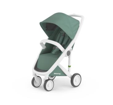 Wózek Greentom Upp Classic - white - sage / biało - zielony