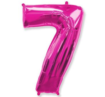 Cyfra 7 - Różowa - Balon foliowy 85 cm - GoDan