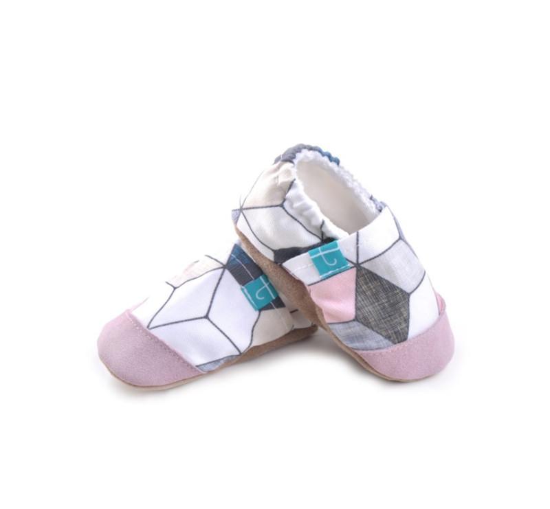 Pink Diamond ze skórką - rozmiar 12-18 msc - Papcie Titot - SKÓRZANA PODESZWA