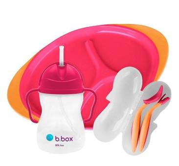 Strawberry Shake - Zestaw do karmienia - pomarańczowo/ różowy - B.BOX