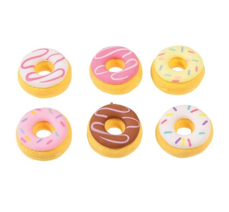 Donut - Gumki Do Mazania - 6 szt - Rex London Trade