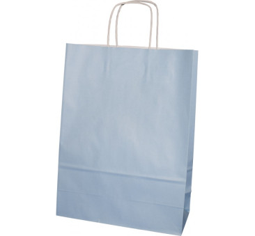 Torba prezentowa średnia - niebieska
