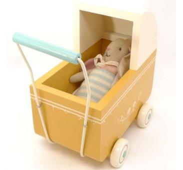 Wózek - Yellow - Pram MY - Żółty - Akcesoria dla Lalek - Maileg