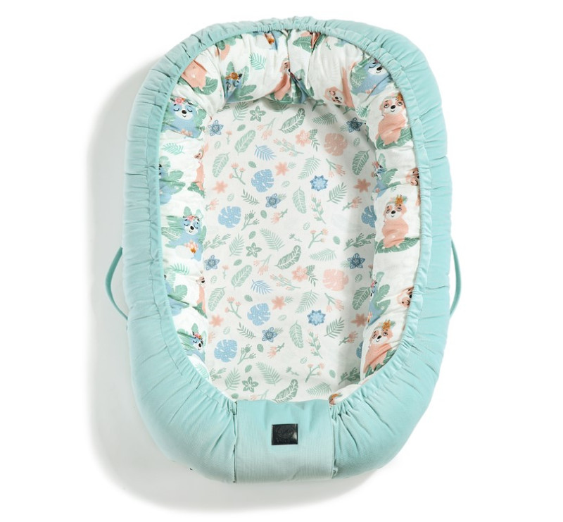 Baby Nest - Gniazdko - Yoga Candy Sloths & Audrey Mint- La Millou - Velvet Collection