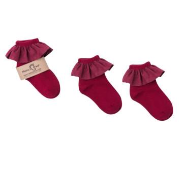Skarpetki 0-1 lata - Barcelona - Bordowe - Mamas Feet - Mama's Feet