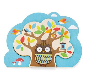 Drewniane puzzle Sowa Skip Hop