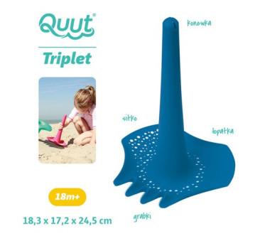 Triplet - Łopatka Wielofunkcyjna Deep Blue - Niebieska - Grabki,Sitko,Lejek - Quut