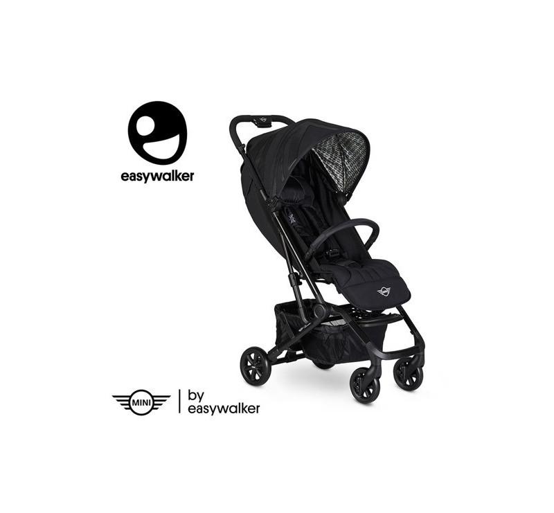MINI by Easywalker Buggy XS - Wózek spacerowy z osłonką przeciwdeszczową Oxford Black - Easywalker