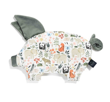 Podusia Sleepy Pig - La Millou Zoo - Khaki - La Millou - Velvet Collection