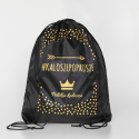 Czarny/ Korona - rozm. 21/22 - Kalosze Dziecięce + worek/plecak - Royal Child - kaloszepoprosze Kalosze Poproszę