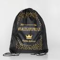 Czarny/ Korona - rozm. 19/20 - Kalosze Dziecięce + worek/plecak - Royal Child - kaloszepoprosze Kalosze Poproszę