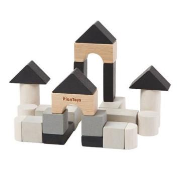 Mini Klocki Drewniane - 24 Elementy - Plan Toys