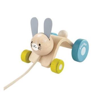 Króliczek do ciągnięcia - Plan Toys - Montessori