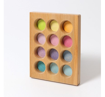 Pastelowa Tablica Do Sortowania 0+ - Grimm's Grimms - Zabawka drewniana - Montessori