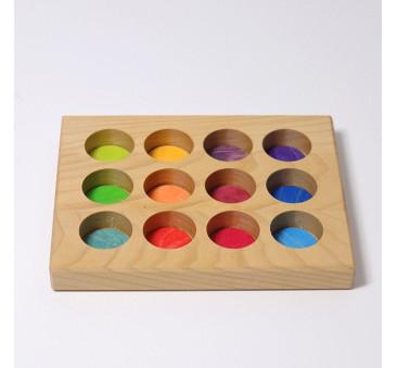 Tęczowa Tablica Do Sortowania 0+ - Grimm's Grimms - Zabawka drewniana - Montessori