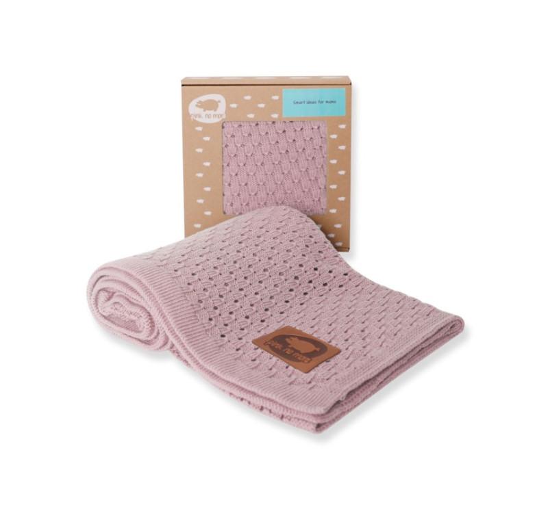 Kocyk dziany - Pink Dust - 80x100 cm - Pink No More