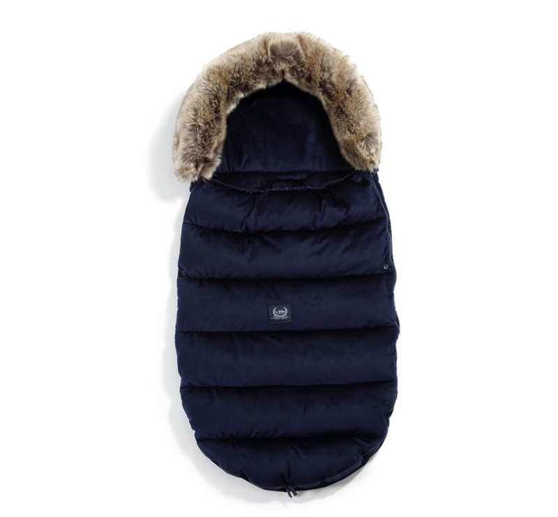 Śpiwór - Stroller Bag Uni - Aspen Winterproof - Royal Navy - La Millou - Velvet Collection