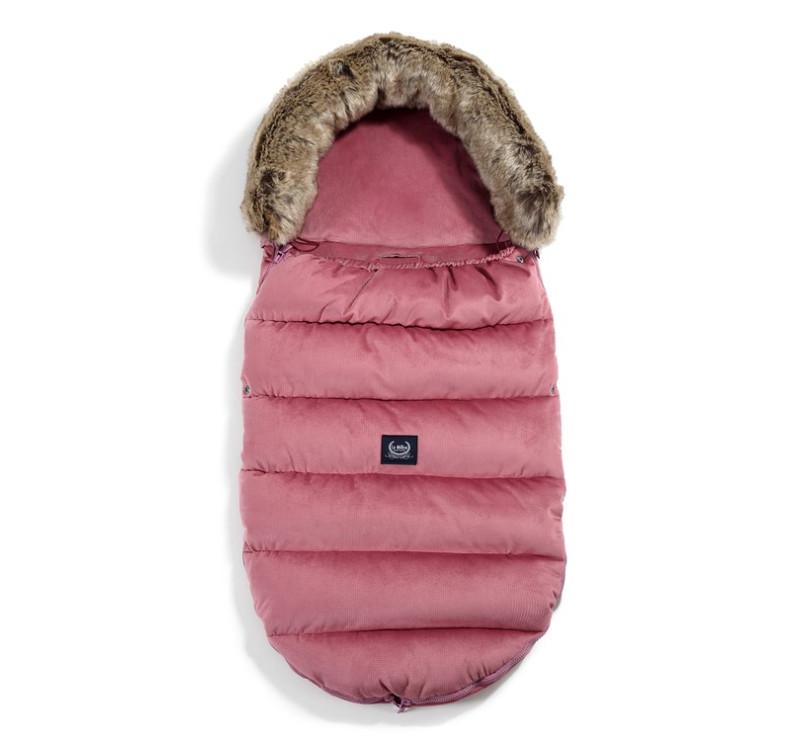 Śpiwór - Stroller Bag Uni - Aspen Winterproof - Mulberry - La Millou - Velvet Collection