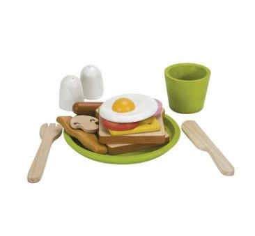 Zestaw Śniadaniowy - drewniany zestaw do zabawy - Plan Toys - Montessori