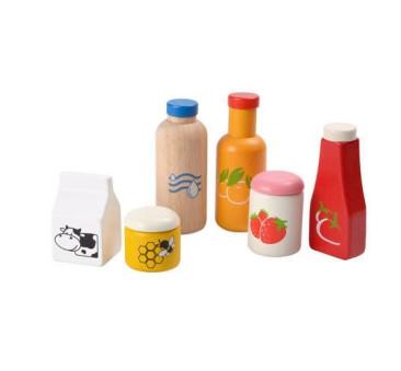 Zestaw Jedzenia i Napojów - drewniany zestaw do zabawy - Plan Toys - Montessori